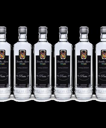Caixa 6 c/ garrafas Cachaça Prata - Garrafa 750ml