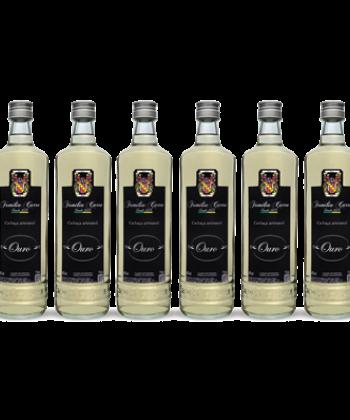 Caixa com 6 garrafas de Cachaça Ouro- Garrafa 750ml