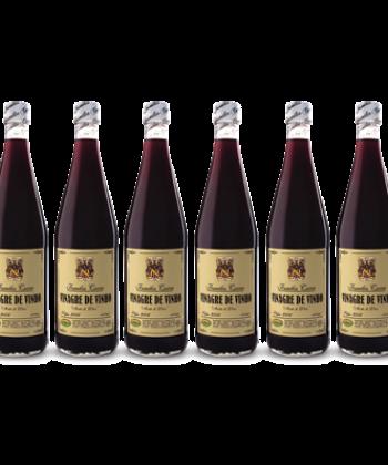 Caixa Vinagre de Vinho c/ 6 Garrafas de 1 Litro